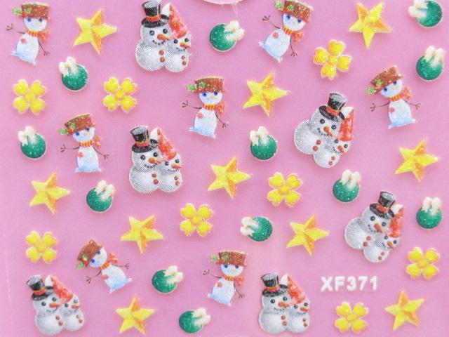 画像1: ネイルシール/クリスマス【D】 (1)