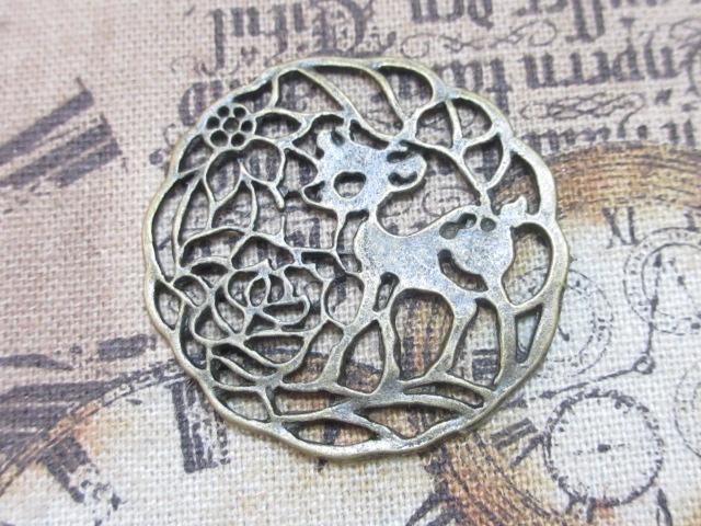 画像1: チャーム/バンビのドイリー/真鍮古美 (1)