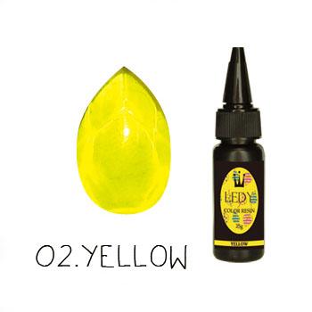 画像1: LED・UVカラーレジン/「-LEDY-」25g/イエロー (1)