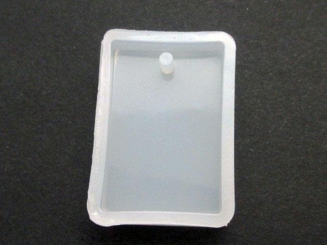 画像1: シリコンモールド/カン穴付きプレート/長方形 (1)