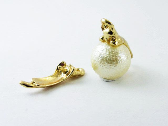 画像1: 挿しカン/たれネコ/ゴールド (1)