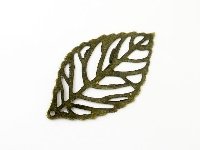 画像1: フィリグリー/リーフ(M)/真鍮古美 (1)