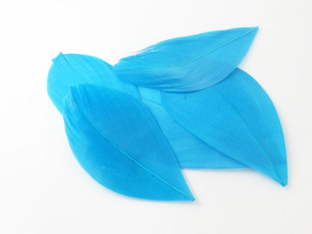 画像1: 【5枚入り】カット済み染色フェザー/マーメイドブルー (1)