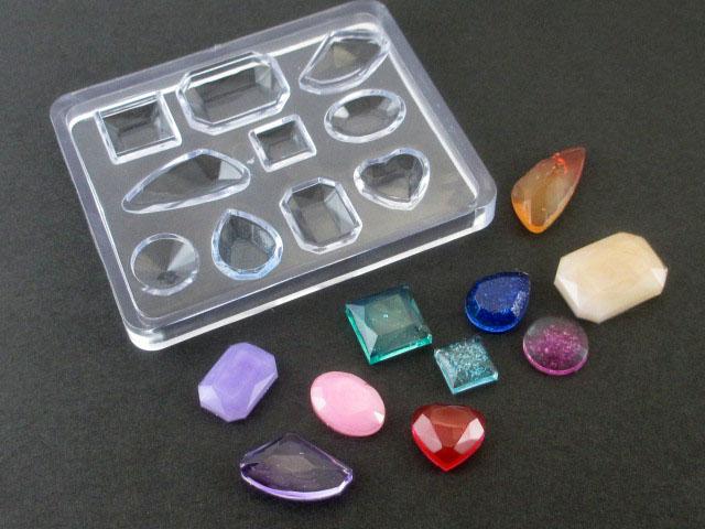 画像1: シリコンモールド/鉱石&ジュエリーミックス10種型 (1)