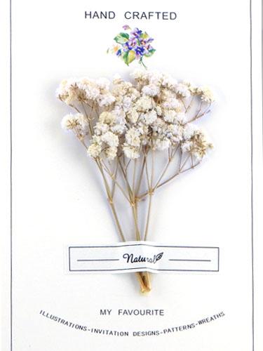画像1: ドライフラワー【Bouquet-ブーケ-】07/かすみ草 ホワイト (1)