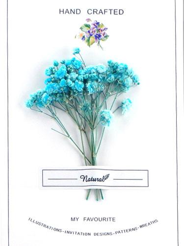 画像1: ドライフラワー【Bouquet-ブーケ-】011/ かすみ草 スカイブルー (1)