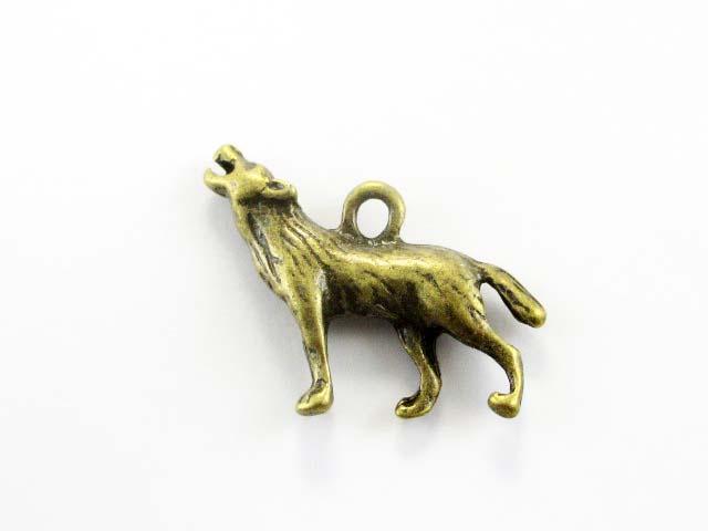 画像1: チャーム/オオカミ/真鍮古美 (1)