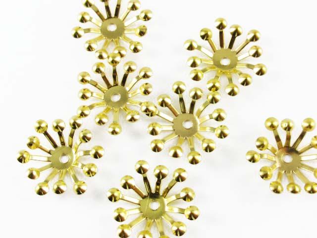 画像1: 【10個入り】薄型花芯/15mm/ゴールド (1)
